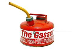 Red Gas Can  Vintage Industrial Decor  The Gasser by EitherOrFinds, $28.00