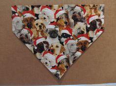 Christmas Dog Bandana by SCCDogApparel on Etsy, $10.00