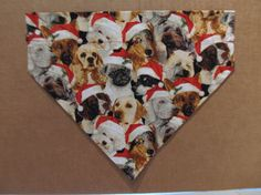 Christmas Dog Bandana by SCCDogApparel on Etsy, $10.00