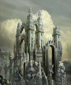 ruined castle Google søgning Fantasy castle Fantasy city Fantasy landscape
