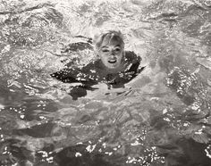 Marilyn filming the pool scene for Something's Got To Give, March 1962.