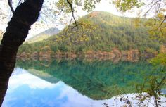 Mirror Lake,Jiuzhai Valley National Park