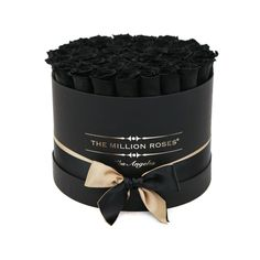 medium round box - black - black ETERNITY roses