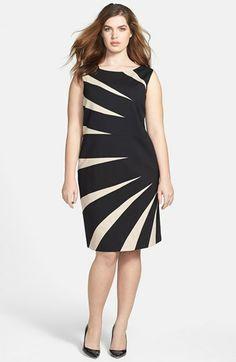 Tahari Starburst Ponte Sheath Dress (Plus Size) available at #Nordstrom