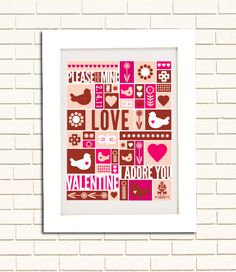 Valentine's Poster by Benign Objects