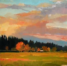 "Daily Paintworks - ""Skagit Valley Jewel Skagit Valley, plein air ,landscape painting by Robin Weiss"" - Original Fine Art for Sale - © Robin Weiss Abstract Landscape, Landscape Paintings, Landscape Art Lessons, Art Painting Gallery, Pastel Art, Pastel Paintings, Art Paintings, West Art, Collage"