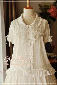 Dear Celine Early Summer Striped Dolly Blouse - CB1570127 | CLOBBAONLINE