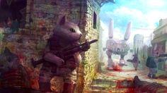 Killer Cat, Killer Cat, Gonna Kill It Some Giant Bunny Robot