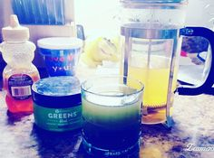 I am a genius!  I love green tea and I love my Greens and I take honey daily for allergies so I mixed them all together!  Omg I cannot believe it took me this long!  I highly recommend trying it!  So yummy and good for me.  I am in heaven!