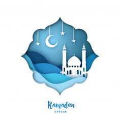 View top quality illustrations of Ramadan Kareem Illustration With Arabic Origami Mosque Crescent Moon And Stars Paper Cut Style Vector Background. Find premium, high-resolution illustrative art at Getty Images. Islamic Posters, Islamic Art, 2d Character Animation, Islamic Events, Ramadan Kareem Vector, Cut Out Art, Design 3d, Eid Cards, Ramadan Crafts