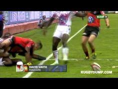 Best Tries - Top Ten so far Rugby Videos, David Smith, Top Ten, Sports, Toulon, Hs Sports, Sport