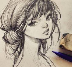 "19.5k Likes, 81 Comments - loish (@loisvb) on Instagram: ""Morning sketch. #art #artistsofinstagram #sketch #sketchbook #graphite #pencil #drawing #girl #loish"""