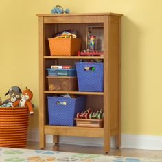 For next to dresser. Kids Natural Simple Bookcase in Bookcases Kids Storage Furniture, Kids Room Furniture, Barrel Furniture, Couch Furniture, Colorful Furniture, Furniture Ideas, Bookshelves Kids, Bookcases, Decoration