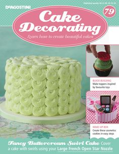 In this weeks issue of we learn how to create inspired by our favourite toys. We also show you how to create your favourite All this plus you receive your large French open star nozzle. Cake Decorating Magazine, Swirl Cake, Cake Cover, Swirls, Free Gifts, Cupcake Cakes, Fondant, Icing, Create Yourself