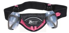 Essential Nutrition Belts in Pink Elastic waist with bounded edges for ensured comfort. Two 5 oz drink or gel bottles with soft spout. Molded holsters for easy bottle access. Velcro pocket with key clip for small essentials. High visibility reflective trim.  #Zenergy #Sports