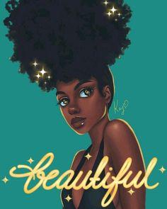 Black Girl Art - Her Crochet Black Love Art, Black Girl Art, Black Girls Rock, Black Is Beautiful, Black Girl Magic, Art Girl, Beautiful Body, Beautiful Pictures, Natural Hair Art