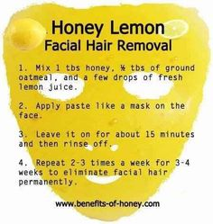 DIY hair facial remover---> I really want to try and see if this works.
