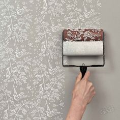 20 Budget Friendly DIY Home Decor Projects.Im not interested in rolling little birdies on the walls, lol, but another oller sounds interesting, assuming there are other designs available. budget friendly home decor Patterned Paint Rollers, Textured Paint Rollers, Paint Rollers With Designs, Painting Wallpaper, Diy Wallpaper, Bedroom Wallpaper, Painting An Accent Wall, Kitchen Wallpaper Accent Wall, Wall Paper Bedroom