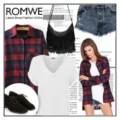 """Lapel Plaid Loose Blouse 