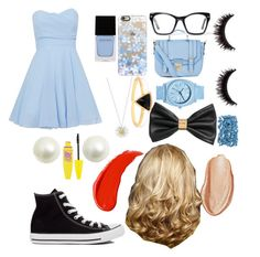 """""""alice"""" by disney-dancer14 ❤ liked on Polyvore featuring Converse, TFNC, H&M, Spitfire, Casetify, Nixon, Daisy Jewellery, Witchery, Urban Decay and Maybelline"""