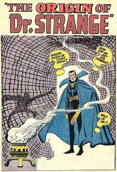The origin of Dr Strange by Stan Lee and Steve Ditko.  #DrStrange #StanLee #SteveDitko