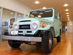 If you have ever walked around inside the dealership here at Toyota of El Cajon you have most likely bumped into our mint green 1970 Land Cruiser Now standing in the very center of the buildi… Suv Trucks, Lifted Ford Trucks, Jeep Rubicon, Jeep 4x4, Toyota Dealers, Toyota Fj40, Toyota Land Cruiser, Old Classic Cars, Dream Cars