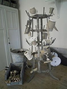 A vintage bottle drying rack is a must in my kitchen, great for hanging mugs