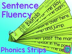 Sentence Fluency Phonics Strips for phonics and fluency practice. Great for word work!