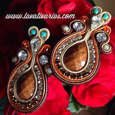 Our proposal of Soutache earrings. Available for orders  in Europe only.  - La…