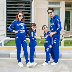 Family Matching Active Family Clothing Mother Daughter Father Son Hoodies Clothes Family Clothing Sets Parent-Child Set 3XL HH91