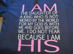 Faith I AM HIS Glitter Vinyl  I am the Daughter of the King