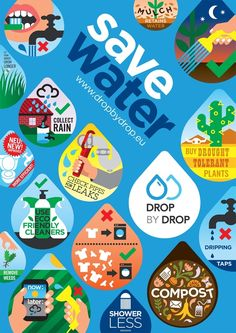This is about tackling the water crisis by addressing the reasons why so many people are being left behind. It's our time to take responsibility of tackling and coming up with new solutions. Save Water For Better Future. Save Water Poster Drawing, Save Water Posters, Water Saving Tips, Save Environment, Save Our Earth, World Water Day, Water Pollution, Kids Poster, Poster Poster