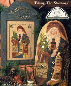 Cinnamon Stick Santa XIV ~ Filling The Stockings ~ Cross Stitch Pattern