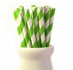 Lime green paper straws.  Available in a pack of 50 straws from Love the Occasion. http://www.lovetheoccasion.com.au/shop/lime-green-paper-straws/