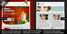 15 Awesome Christmas Email Newsletter Templates 2016 - Useful Blogging