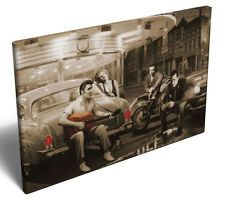 Film Icons Marilyn Monroe Elvis Presley James Dean Framed Canvas Print Picture