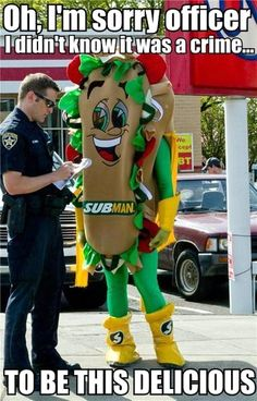 delicious subman vs police officer