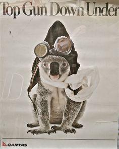 Qantas Koala Ad : Top Gun Down Under