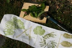 Hammering: natural fabric dye (fun in an afternoon)