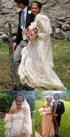 Margherita Missoni e Eugenio Amos casaram-se no dia 23 de junho de 2012, em uma romântica igreja em Brunello, na Itália. Após a cerimônia, a família Missoni recebeu os convidados fashionistas em uma recepção no jardim de casa, bem no estilo deles: clima cool e inspiração gypsy!  A noiva usou um vestido de seda e organza com mangas bufantes de tule, assinado por Giambattista Valli, com a colaboração da Missoni nos detalhes da peça, principalmente no bordado floral.