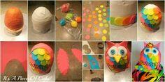 Colorful owl cake