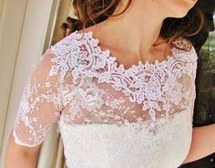 KISS Me In BARILOCHE bridal lace top bolero wedding shrug white lace top white lace blouse bridal bolero jacket wedding bolero wedding shrug...