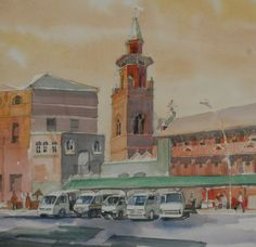 Emmanual Cathedral  Watercolour by Peter Croxon  On exhibition from 27 Nov at Elizabeth  Gordon Gallery, Durban