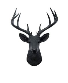 The XL Ignatius, our XL black resin deer head, is custom painted black and can match any style of hanging wall home decor. Dont want him in black? We can customize any of our White Faux Taxidermy pieces to the color of your choice. Simply contact us and we can work together to create your dream faux taxidermy piece!  The XL Ignatius- XL Black Faux Deer Head Wall Mount.  Measurements: • 21 tall • 18.25 wide • 13 deep  Weight: • About 7lbs total • Each XL deer mount is cast out of a polyresin…