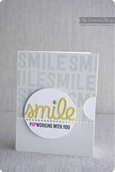 At the Office, Smile, TRANSFORM0ables Smile Die-namics - Keisha Campbell #mftstamps