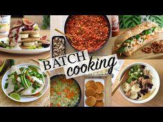 Une Semaine dans mon Assiette | Batch Cooking Vegan - YouTube Lloyd Lang, Ramen, No Salt Recipes, Buddha Bowl, Batch Cooking, Granola, Tacos, Ethnic Recipes, Quesadillas