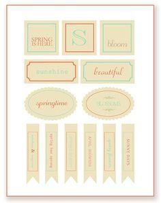 Spring Printables ~ Simple As That  | SimplyFreshVintage.com