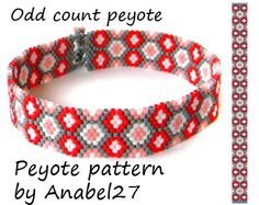Peyote bracelet pattern 120 by Anabel27shop on Etsy