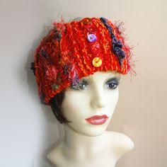 Luxury Knitted Ski Headband - Jura Handmade Christmas Decorations, Modern Hippie, Handmade Headbands, Unique Cards, Cloche Hat, Red Hats, Ear Warmers, Hand Knitting, Ski