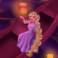 Rapunzel and her floating light lantern in I See the Light Walt Disney Pixar, Disney Wiki, Arte Disney, Disney And Dreamworks, Disney Magic, Punk Disney, Disney Princess Art, Princess Rapunzel, Disney Fan Art
